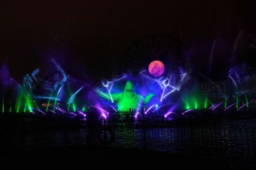 """""""Villainous!"""" is a new """"World of Color"""" show, exclusive to the new separate ticket event, Oogie Boogie Bash – A Disney Halloween Party at Disney California Adventure Park, beginning Sept. 17, 2019, for 20 select nights. The show weaves a Halloween tale about a young girl named Shelley Marie who goes on an unforgettable journey exploring the villainous side of Disney characters. """"Villainous!"""" shows guests that, deep down, there's a little villain in all of us. Disneyland Resort is located in Anaheim, Calif. (Richard Harbaugh /Disneyland Resort)"""