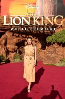 """HOLLYWOOD, CALIFORNIA - JULY 09: Raline Shah attends the World Premiere of Disney's """"THE LION KING"""" at the Dolby Theatre on July 09, 2019 in Hollywood, California. (Photo by Alberto E. Rodriguez/Getty Images for Disney)"""