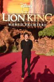 """HOLLYWOOD, CALIFORNIA - JULY 09: David Dobrik attends the World Premiere of Disney's """"THE LION KING"""" at the Dolby Theatre on July 09, 2019 in Hollywood, California. (Photo by Alberto E. Rodriguez/Getty Images for Disney)"""
