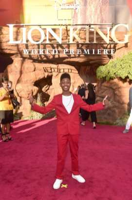 """HOLLYWOOD, CALIFORNIA - JULY 09: Josh McCrary attends the World Premiere of Disney's """"THE LION KING"""" at the Dolby Theatre on July 09, 2019 in Hollywood, California. (Photo by Alberto E. Rodriguez/Getty Images for Disney)"""