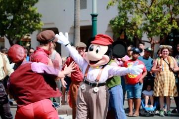 Final Performance Red Car Trolley News Boys at Disney California Adventure-3