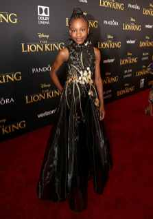 """HOLLYWOOD, CALIFORNIA - JULY 09: Demi Singleton attends the World Premiere of Disney's """"THE LION KING"""" at the Dolby Theatre on July 09, 2019 in Hollywood, California. (Photo by Jesse Grant/Getty Images for Disney)"""