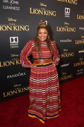 """HOLLYWOOD, CALIFORNIA - JULY 09: Yvette Nicole Brown attends the World Premiere of Disney's """"THE LION KING"""" at the Dolby Theatre on July 09, 2019 in Hollywood, California. (Photo by Jesse Grant/Getty Images for Disney)"""
