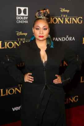 """HOLLYWOOD, CALIFORNIA - JULY 09: Raven-Symone attends the World Premiere of Disney's """"THE LION KING"""" at the Dolby Theatre on July 09, 2019 in Hollywood, California. (Photo by Jesse Grant/Getty Images for Disney)"""