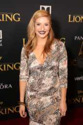 """HOLLYWOOD, CALIFORNIA - JULY 09: Anneliese van der Pol attends the World Premiere of Disney's """"THE LION KING"""" at the Dolby Theatre on July 09, 2019 in Hollywood, California. (Photo by Jesse Grant/Getty Images for Disney)"""