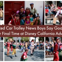 Red Car Trolley News Boys Say Goodbye for Final Time at Disney California Adventure