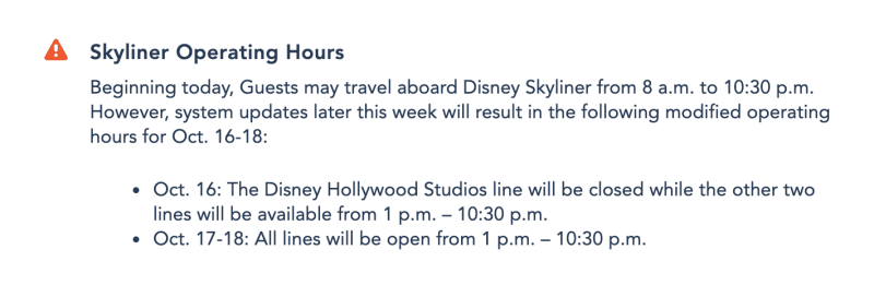 Disney Skyliner Announcement