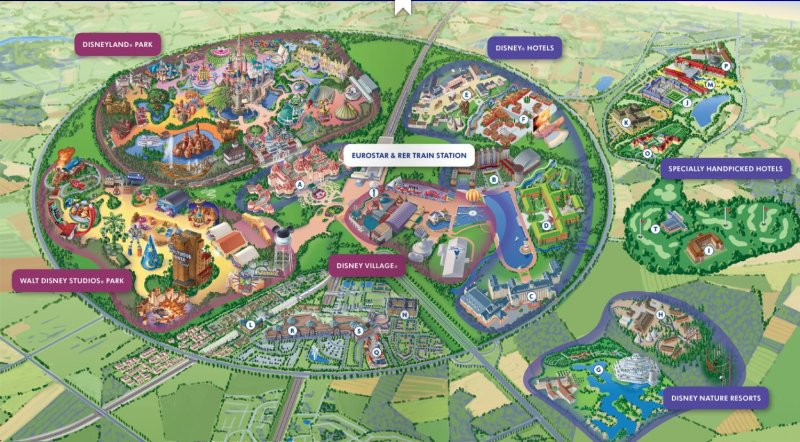 Disneyland Paris Map 2020