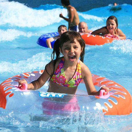 Knott's Soak City Girl in Wave Pool