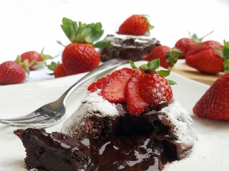resep chocolate lava praktis kue kekinian