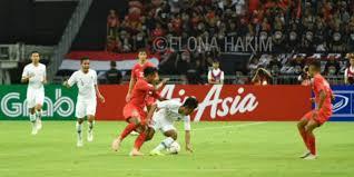 Timnas Indonesia Kalah 0-1 dari Singapura di Laga Perdana Piala AFF 2018
