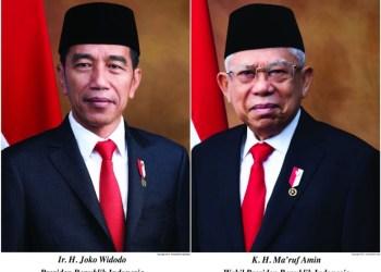 oto: Foto resmi Jokowi-Ma'ruf sebagai presiden dan wakil presiden (Dok. Setneg/detikcom)