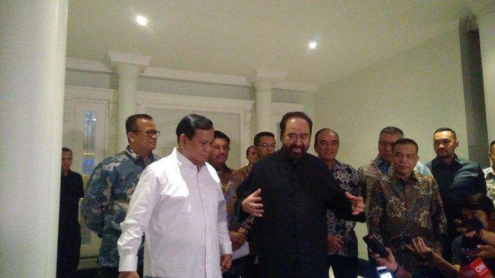 Prabowo dan Surya Paloh gelar pertemuan (foto: tribunnews)