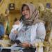 Teh Nia saat telekonference (Foto: Humas Pemkab Bandung)