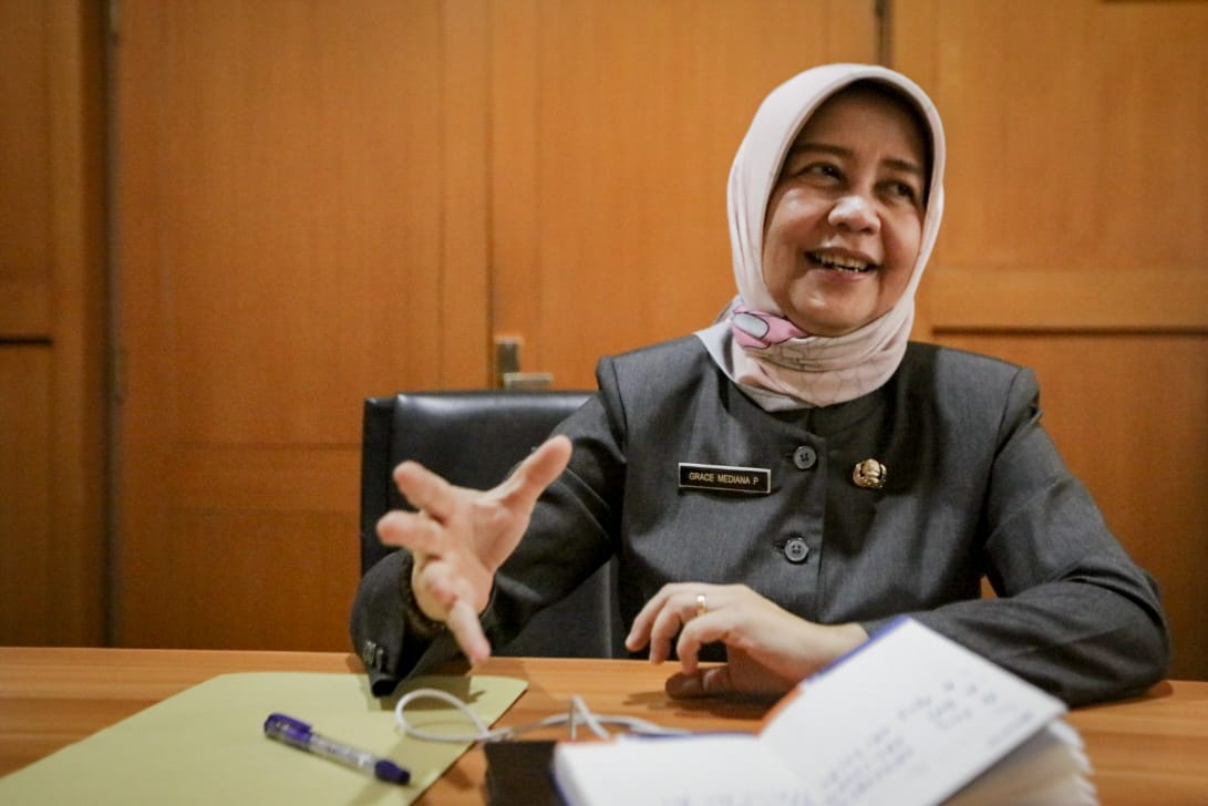 Kepala Dinas Kesehatan Kabupaten Bandung Grace Mediana Purnami (Foto: Humas Pemkab Bandung)