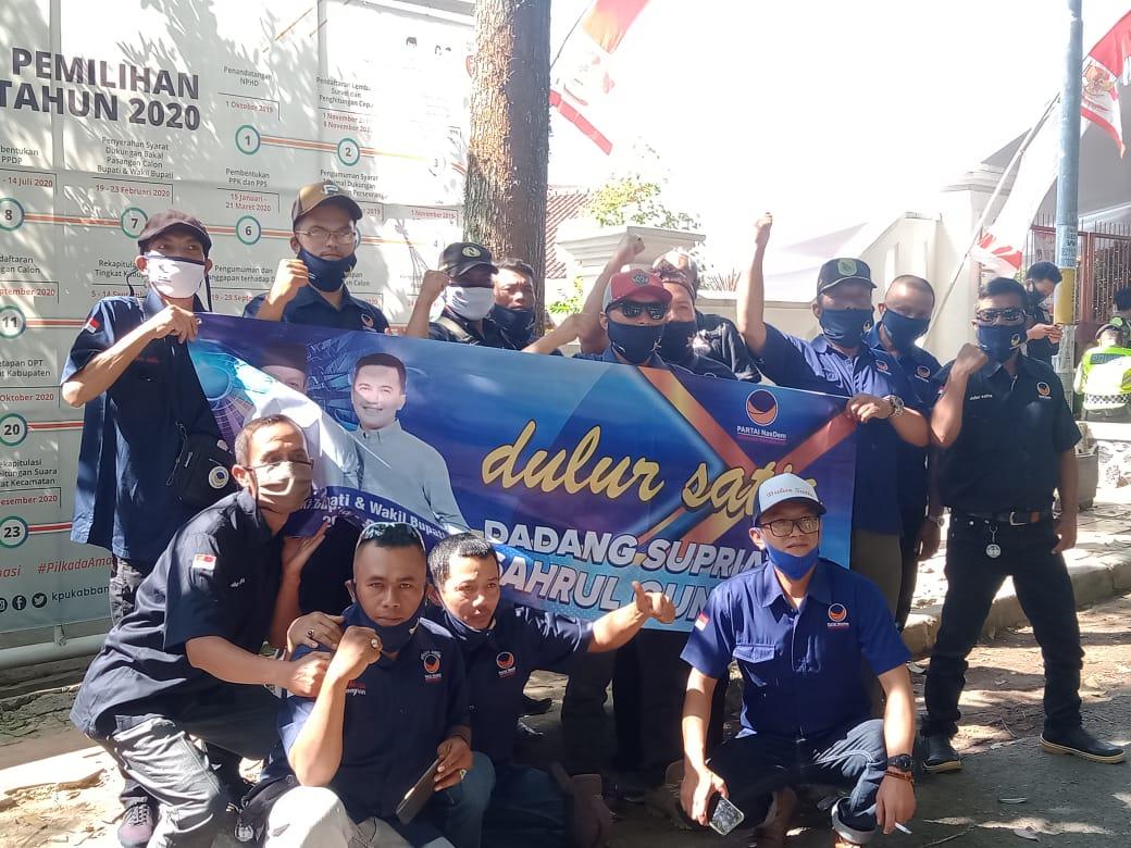 Dulur Satia pendukung bakal pasangan calon Bupati dan Wakil Bupati Bandung, Dadang SUpriatna-Sahrul Gunawan. (Foto: Verawati/dara.co.id)