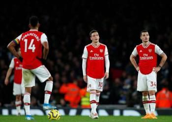 Arsenal takluk 0-1 saat menjamu Leicester City di Stadion Emirates, London, Minggu (25/10/2020). (Foto : Sindonews)