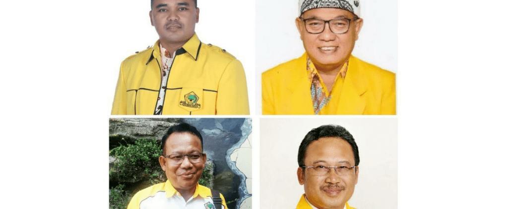 Empat Bakal Calon Ketua DPD Golkar Kabupaten Bandung, (Atas-kiri-kanan) Sugianto, Anang Susanto,   (bawah-kiri-kanan) Cecep Suhendar, Yanto Setyanto