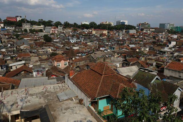 Ilustrasi kawasan padat penduduk di Kota bandung (Foto: Ayobandung.com)