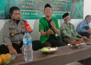 (Jas Hijau) Ketua GP Ansor Kab. Ciamis Maulana Sidik (foto : Istimewa)