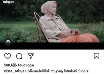Potongan video klip Maha Kasih, Nissa Sabyan (Tangkap layar Instagram Nissa Sabyan @nissa_sabyan)