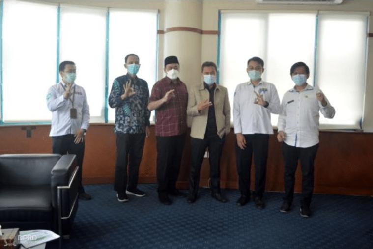 Komisi III DPRD Provinsi Jawa Barat lakukan kunjungan kerja dalam rangka evaluasi kinerja mitra kerja komisi sampai dengan triwulan I tahun 2021, Rabu (16/06/2021). (Foto : Addy / Humas DPRD Jabar).