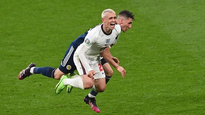 Timnas Inggris ditahan Skotlandia tanpa gol saat melakoni matchday kedua Grup D Piala Eropa 2020, di Stadion Wembley, Sabtu (19/06/2021) dini hari WIB. (Foto : detik.com)