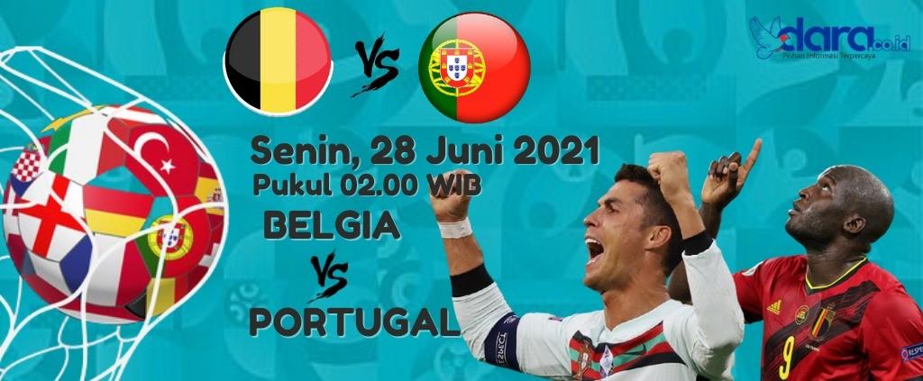 Portugal Vs Belgia (Desain : dara.co.id)
