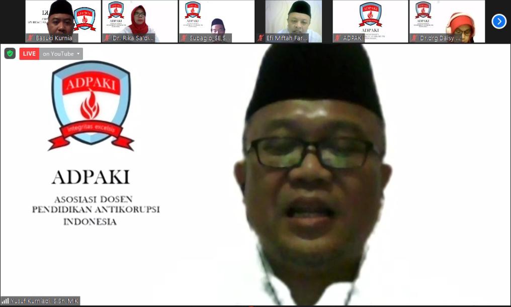 Ketua Umum terpilih periode 2021-2024, Yusuf Kurniadi, S.Sn., M.I.K