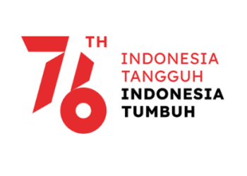 Ilustrasi logo 76 tahun Indonesia merdeka (Foto: Kompas.com)