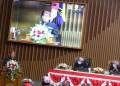 Gubernur Jawa Barat Ridwan Kamil memberikan sambutan pada Paripurna Hari Jadi Kota Bandung ke-211, di Gedung DPRD Kota Bandung, Sabtu (25/9/2021). (Foto: Humas Pemkot Bandung)