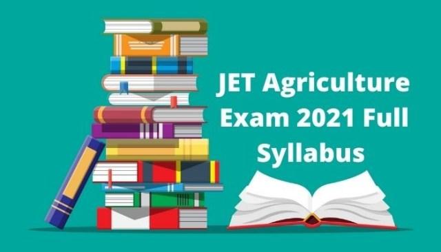 JET Agriculture Exam