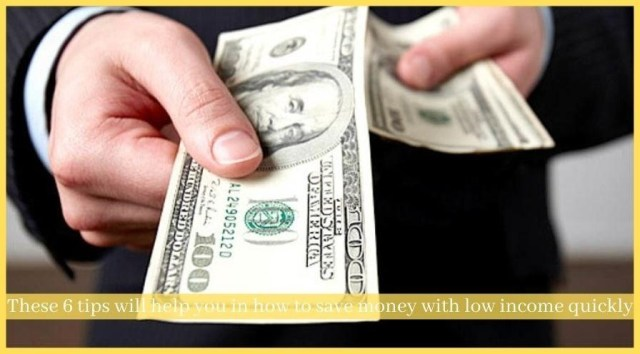 how to save money with low income