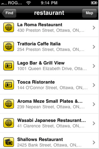Find a People Using YellowPages.ca Mobile Application