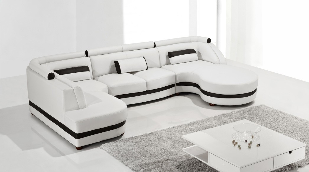 Living Room With Modern Sectional Sofa Darbylanefurniture Com : modern couches sectional - Sectionals, Sofas & Couches