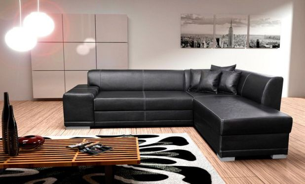 Cheap Black Leather Corner Sofa Uk Centerfieldbarcom - Black leather corner sofa