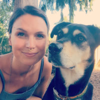 Darcy Goedecke and her dog Luna