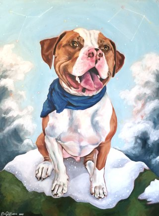 "Oils - Pitbull ""Apollo"""