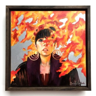 Flame Oil painting by Darcy Goedecke