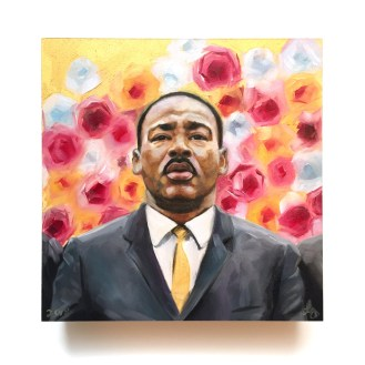 MLK Jr Oil Painting by Darcy Goedecke