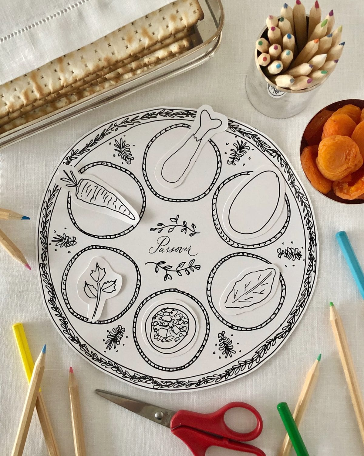 Printable Passover Seder Plate