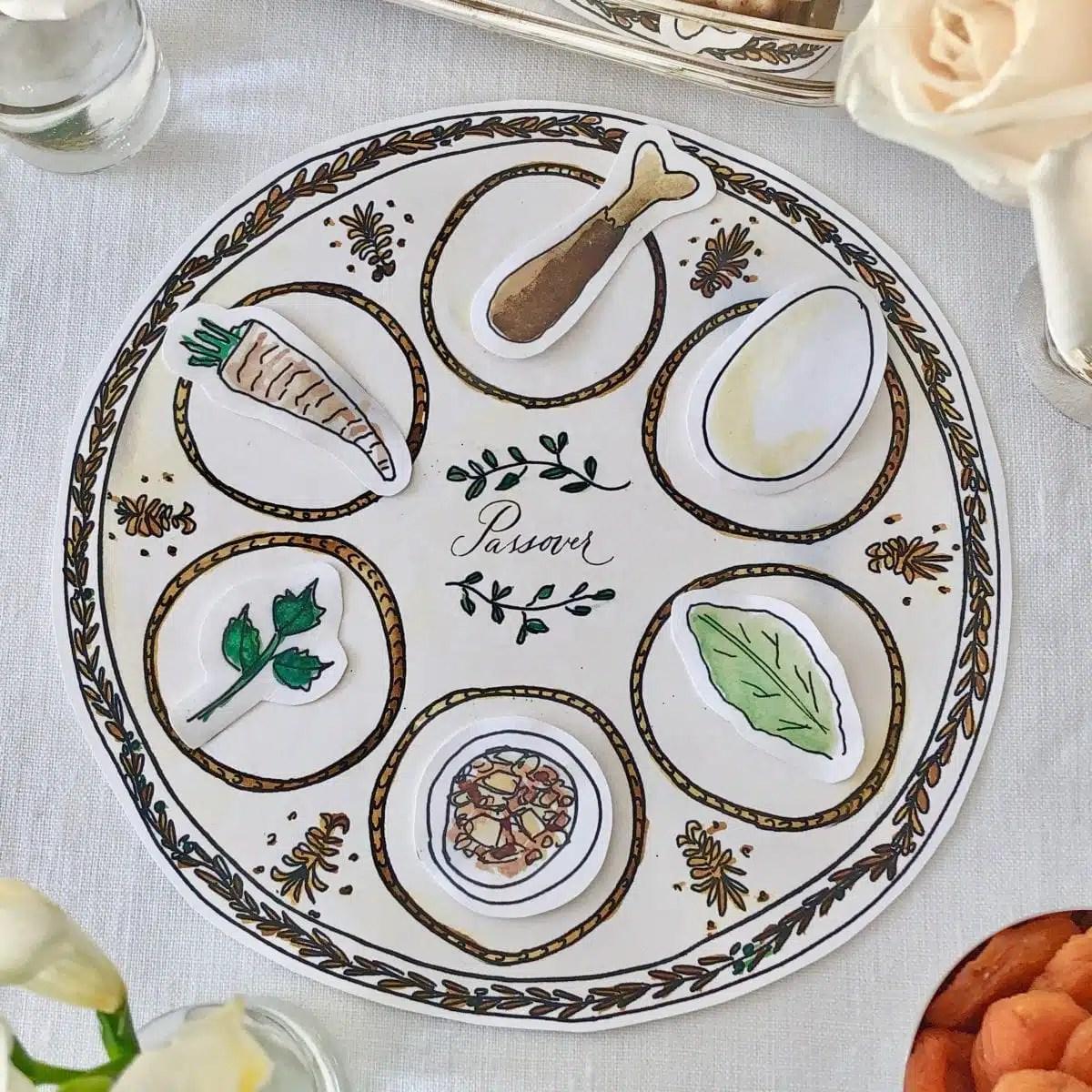 Printable Passover Seder Plate