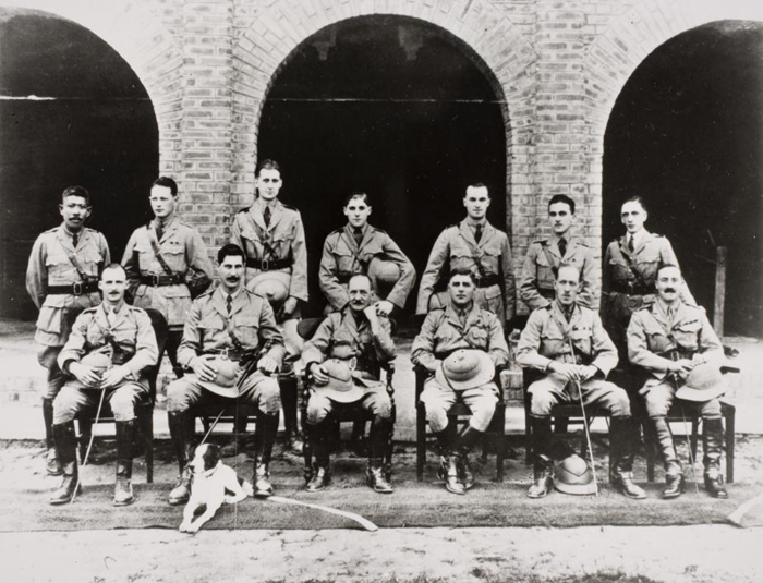 Eric Blair is standing third from the left