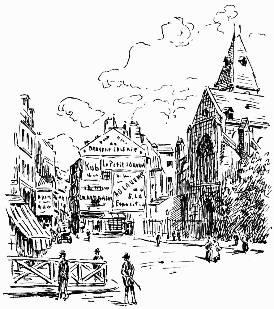 Place Monge from Historic Paris by Jetta S. Wolff (1921)