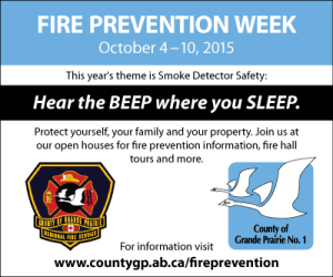 Fire Prevention Week ad