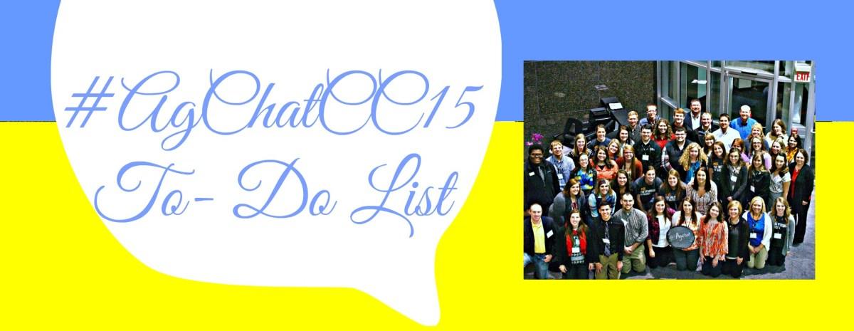 #AgChatCC15 To – Do List