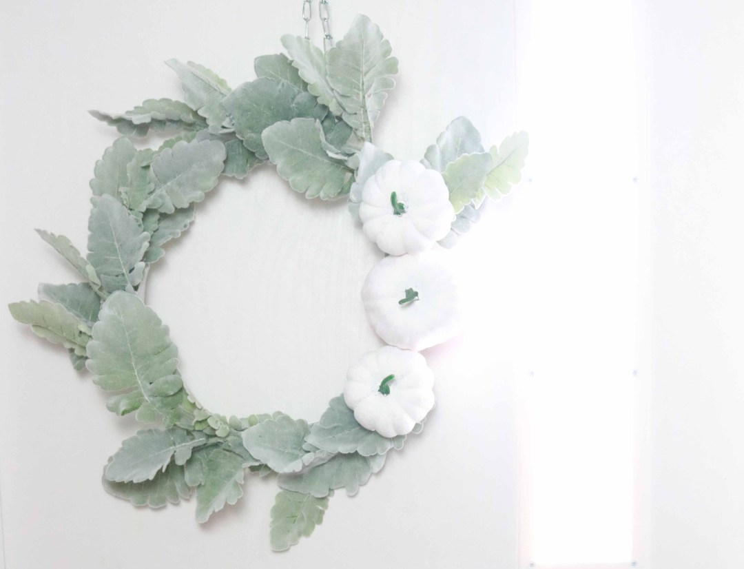 DIY pumpkin front door wreath