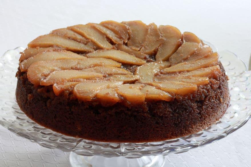 Pear Upside Down Cake prep 15