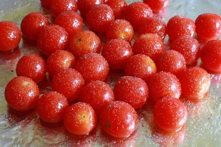 Grilled Chicken Cherry Tomato Salad prep 3