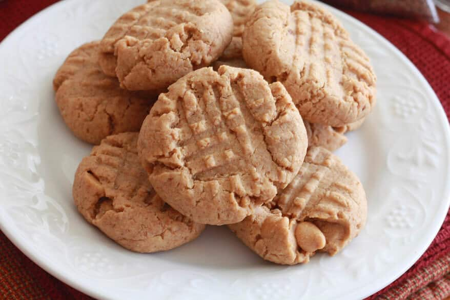 healthy peanut butter cookies recipe whole wheat grains honey flaxseeds wheat germ oat bran coconut oil